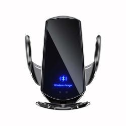 Automatisk 15W Qi bil trådlös laddare USB-infraröd sensor Black