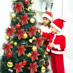 Christmas Flower Ornaments Xmas Tree Decorations Party Krans Red 1pcs