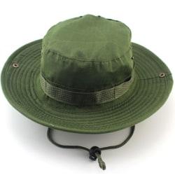 Män Casual Mössor Bred Rand Cap Militär Camo Hattar Army Green - Solid