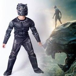 Black Panther Boys Superhero Cosplay Jumpsuit Playsuit M