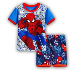Pojkar Flickor Superhjälte Spiderman Pyjamas Kläder Nattkläder 110
