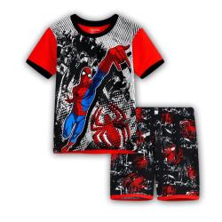 Pojkar Flickor Superhjälte Spiderman Pyjamas Nattkläder Svart 110