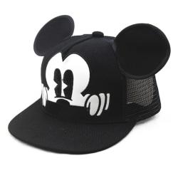 Cartoon Mickey Mouse söt öronlock Snapback Sun Caps Red Net