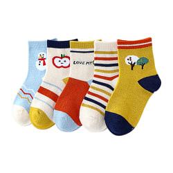 Cute Fairy Tale Tree Animate Baby Sock Kids Sock For 0Y-5Y Random L