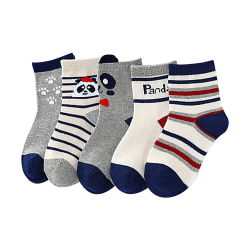 Söt Panda Elf Animate Baby Sock Barnstrumpa (1 par) För 0Y-5Y Random L