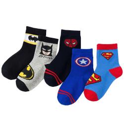 Söt Super Hero Cartoon Animate Baby Sock Kids Strumpa för 0Y-5Y Random L