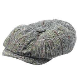 Män Peaky Blinders Hat Newsboy Flat Cap Plaid Gatsby Cap Grey