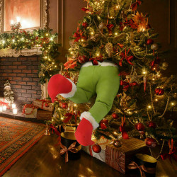 Xmas Tree dekoration plysch leksak docka Grinch stal julben