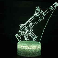 Fortnite Game Cosplay Prop 3D LED-lampa Night Pics-8 Assault rifle