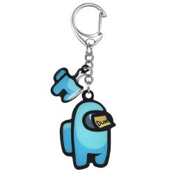 Among Us Gaming Keychain Crewmate Keyrings Kids Decor #5