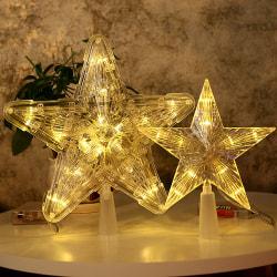 Christmas Tree Topper med LED Lights Star Light för jul 30 Light L