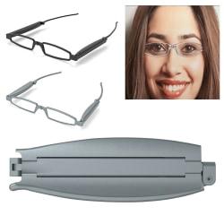 Vikbara fickglasögon Unisex kvinnor män läsglasögon Black - 200�� 3 Pack