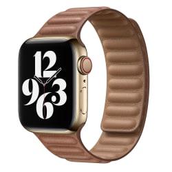 För Apple Watch-bandrem Lädermagnetiskt bytband Brown 42mm/44mm
