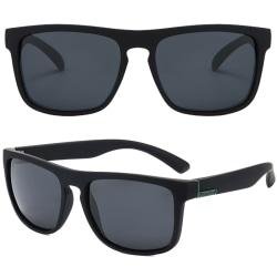 Herr fyrkantiga solglasögon utomhus UV-filter 400 glasögon Black Green Frame Black Lenses 1 Pack