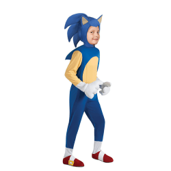 Halloween Hedgehog Sonic Cosplay Jumpsuit Costume Party Kid Boys