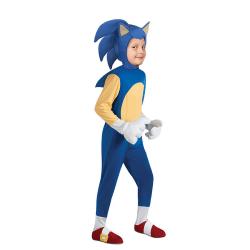 Halloween Hedgehog Sonic Cosplay Jumpsuit Costume Party Kid Boys Blue 4-6 Years