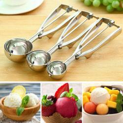 Glass Scoop Rostfritt stål Potato Ball Sked Scooper M