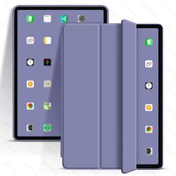 iPad Air-fodral Fällbart Skyddande Silikonfodral Till iPad 9.7 Grey Purple iPad 8th 2020 10.2