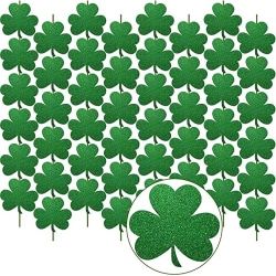 Irish Festival Flag Party Banner St. Patrick's Day Event Decors Dark Green with Glitter