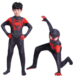 Kid Boy Spiderman Superhero Costume Fancy Party Cosplay Outfit S