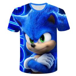 Sonic Hedgehog 3D T-shirt Game Present Kortärmad Toppar Kid Boy B 120cm