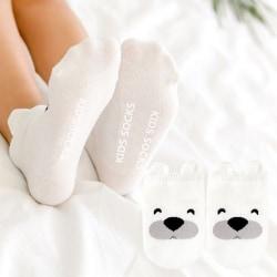 Barnstrumpor Flicka Pojke Mode Nyfött Baby Småbarn Skor Söt White Puppy S