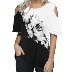 Kvinnor Ruffle Sleeve Halter Neck Office Bluse