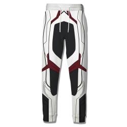 Män Anime Cosplay Avengers 4 Suit Pants Tie Loose Byxor