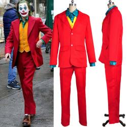 Joker Cosplay Clown Kostymdräkt Mask Underhållning Utomhus Clown suit+Masks 2XL