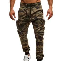 Herr Camo Sweat Pants Joggers Sport Casual Byxor Grön Camo