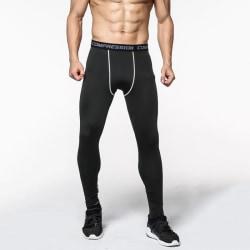 Herr Sports Leggings Fitnessbyxor Camo Gym Byxor Svart 2XL