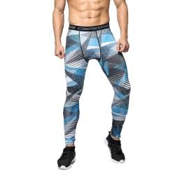 Herr Sports Leggings Fitnessbyxor Camo Gym Byxor Dot L