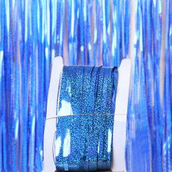Party Glitter Aluminium Film Gardin Födelsedagsfest Dekor Blue 1 * 2m