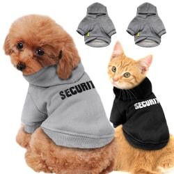 Husdjur Valp Huvtröja Vinter Varm Tröja Katt Hundkläder Black XS