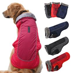 Valp Pet Hund Comfort Fleece fodrad vadderad jacka jacka väst Black 2XL