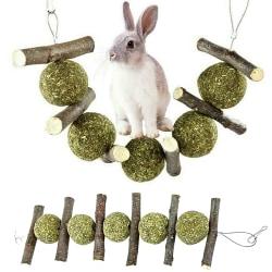 Kaninleksaker Wood Tree Hanging för husdjur