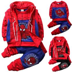 Spiderman Chirld Kids Boys 3-delat AutumnWinter-set Blue 110 cm