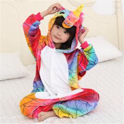 Unicorn Robe Kids Rompers Sleepwear multicolor 130 cm