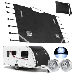Universal Caravan Front bogseringsskydd + 2 LED-ljus