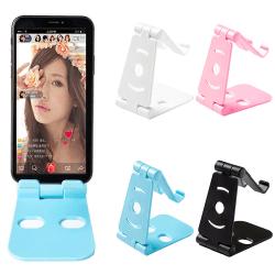 Universal bärbar justerbar mobiltelefonhållare White