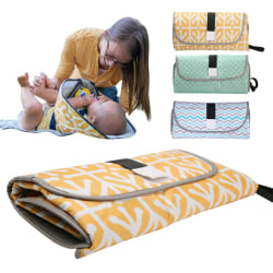 Vattentät babyväska bytmatta vikbar pad handväska Yellow