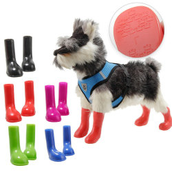 Vattentäta hundregnskor för hundar Skyddande halksockor Black S