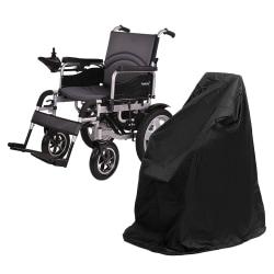 Vattentätt regn rullstol förvaringsskydd för elektrisk manuell Black 100x75x100cm
