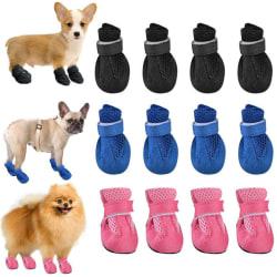 Winter Small Hund Anti-Slip Rain Boots Puppy Shoes Pet Protect Black L
