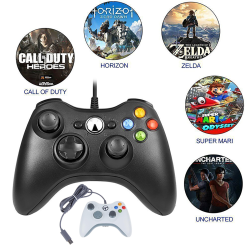 Wired Gaming Controller Gamepad TV Box Black