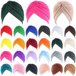 Kvinnor Baby Turban Chemo Cap Hair Wrap Hat Bandana Light Purple
