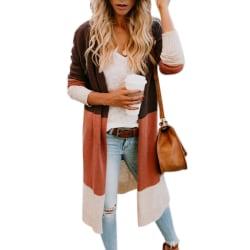 Kvinnor Chunky Stickad Oversized Longline Hoodie Cardigan