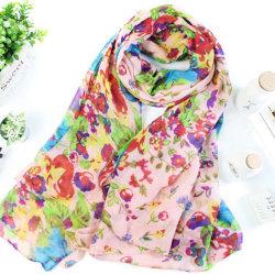 Kvinnor blommor långa mjuka stora halsduk Wrap vinter sjal halsdukar Pink