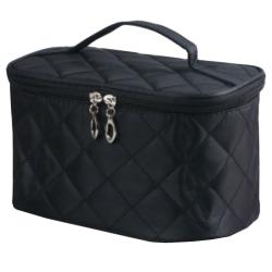 Kvinnor Pure Color Diamond Portable Cosmetic Protable Small Bags Black