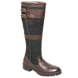 Kvinnor Retro knä höga platta stövlar vinter ridding skor brun 37